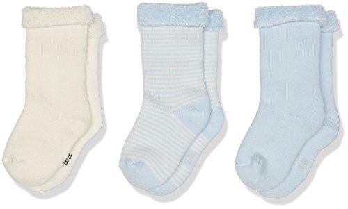 Petit Bateau CHAUSSETTES Chaussettes Bébé garçon Multicolore (Variante 3 99) 0-3 mois (Taille fabricant: P15 POINTURE 15/18 (NAI/3MOIS)) 3lot de3