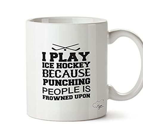 HippoWarehouse I play ice hockey because punching people is frowned upon 10oz Mug Cup