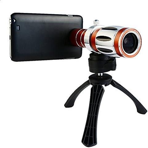 Apexel 20X Ultra Zoom la bestia de objetivos de cámara lupa de acoplamiento con trípode para Samsung Galaxy S6 Edge Plus