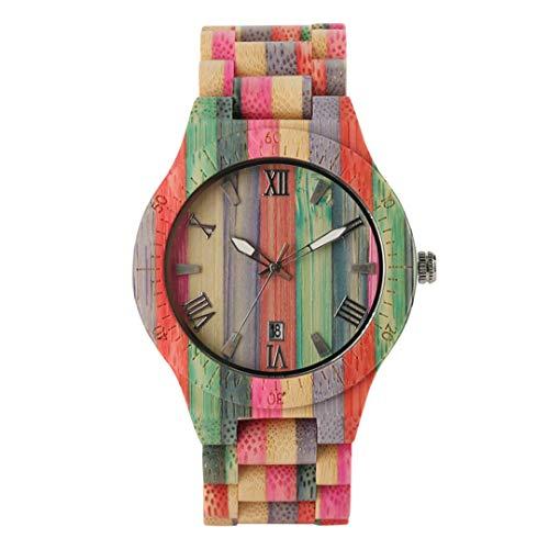 Einzigartigen Stil Uhren FüR MäNner Frauen Bunte Vollholz Armbanduhr Bambus Band Paar Uhr Mode Uhr Geschenke FüR Liebhaber & Men