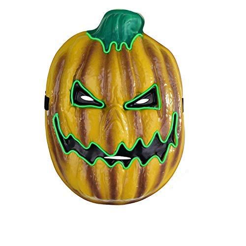 Blitz Kostüm Party Der - Charlemain Halloween Maske in Kürbis Form, LED Maske, Halloween Kostüm Zubehörer, Led Maske Erwachsene für Festival, Halloween, Feuernacht, Cosplay, Geschenk
