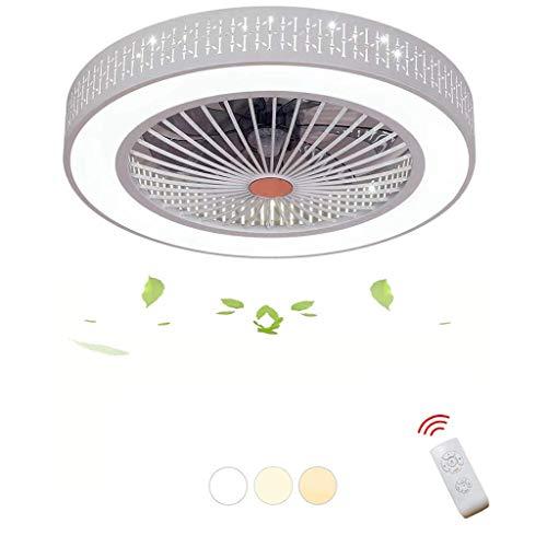 TYUIO Ventiladores de Techo Modernos con luz, Control Remoto Ventiladores de Techo Lámpara Decorativa casera for Sala de Estar, Dormitorio, Comedor