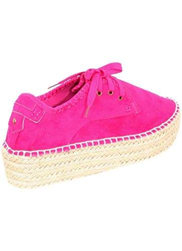 PILOT® lucy lacets de chaussures d'espadrilles flatforms en rose Rose