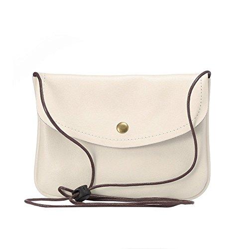 newnet universel en cuir horizontal Version de sac bandoulière sous 18,3cm (6S Plus. 6gplus. a8.n5.n4.s6bord +) Blanc blanc Blanc - blanc