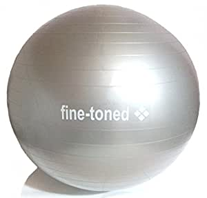 SPECIAL OFFER TODAY fine-toned® extra strong -EXERCISE ,GYM,YOGA BALL 65cm+PUMP-ANTI-BURST + EXERCISE INSTRUCTIONS - very high grade anti-burst construction /load tested / eco friendly -no phthalates / anti slip -NEW!!!