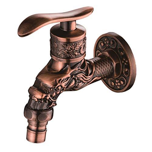 hnitzte Antike Znc Legierung Wasserhahn Waschbecken Wasserhahn - Rote Bronze -1 ()