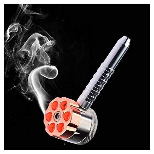 MIRUIKE Jamaika Metallpfeife und Magnete Tabak Gewürz Grinder mit Pollenfänger Dual Use Mini Pocket Grinder (Geschenkpaket)