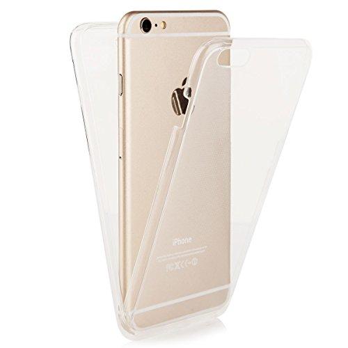 Ego® Double Touch Case completa TPU Silicona Funda Para IPHONE 55S se 360° grados Full Funda Delantera Trasera por ambas caras transparente frontal Back doble cara