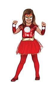 Rubies 620036S Disfraz Oficial de Marvel Avengers para Mujer, de Hierro, pequeño (Edades de 3 a 4 años)