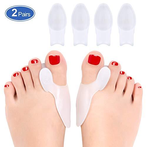 Haofy bunion corrector, alluce valgo correttore silicone per scarpe, separatore dita piedi per dita sovrapposte e punte per martello, distanziatore dita piede per donne e uomini, runner, ballerini
