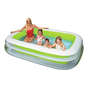 """Inflatable Large Rectangular Family Outdoor Paddling Pool - 96"""" x 60"""" x 20"""" - 8ft"""