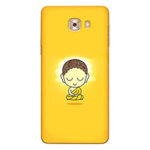 CrazyInk Premium 3D Back Cover for Samsung C9 Pro - Gautam Buddha Cute