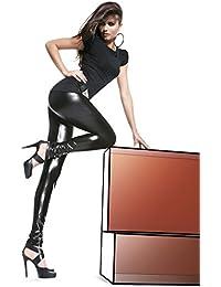 Bas Bleu–Leggings Fashion muy sexy ajustados/brillante talla L negro talla M