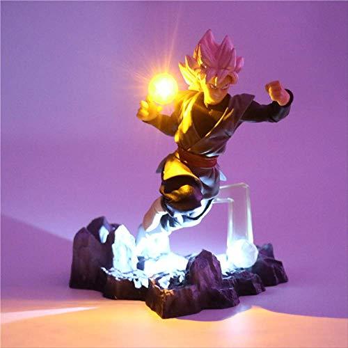 Dragon Ball Z Son Goku Acción Figuras Lámpara Diy Anime Modelo Lámpara De Mesa Bebé Muñecas 2 Color Led Luz De La Noche Para Niños Juguete Decoración Lámpara