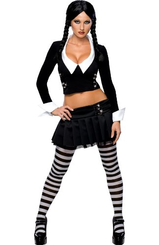 Mittwoch Addams Family Kostüm sexy (Halloween-kostüm Mittwoch)