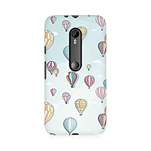 RAYITE Balloon Abstract Premium Printed Mobile Back Case Cover For Moto X Play