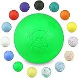Captain LAX Massageball Original - Lacrosseball in Verschiedenen Farben, aus Hartgummi, mit Den Maßen 6 x 6 cm Geeignet für Triggerpunkt- & Faszienmassage/Crossfit