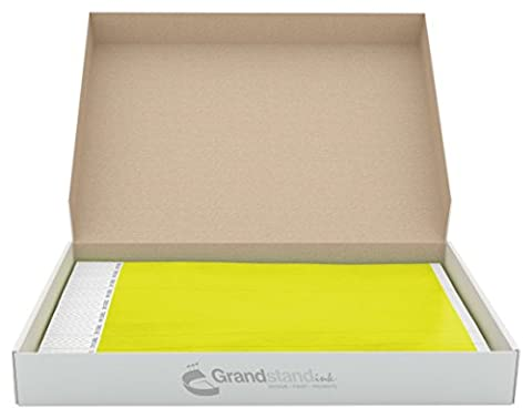 19mm Neon Yellow GrandstandStore.com Tyvek Event Wristbands for easy vip identification - 500CT BOX