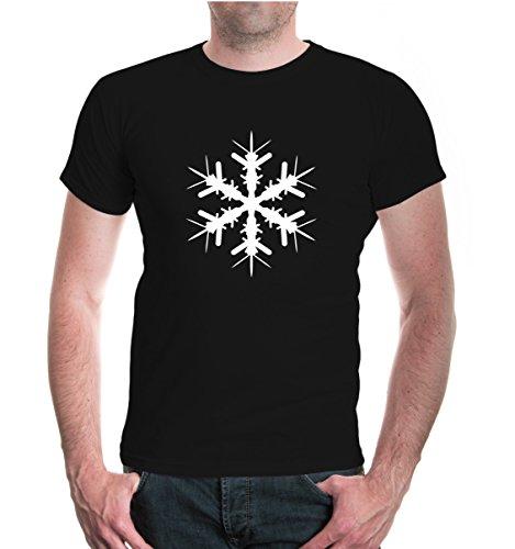 buXsbaum® T-Shirt Schneestern Black-White