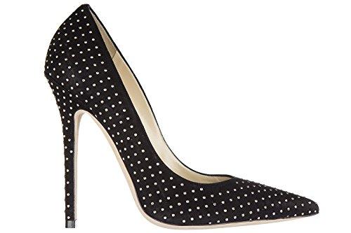 Jimmy Choo zapatos de salón escotes mujer en ante nuevo anouk negro EU 38 134ANOUK