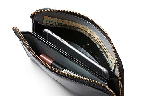 stile unico rivenditore online prezzo competitivo Bellroy Clutch, borsetta da donna o portafoglio in pelle (oltre 9 carte,  contanti, telefono, piccoli oggetti personali)-Black