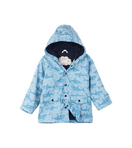Hatley Mini Printed Raincoats Veste imperméable, Blue (Shark Alley), 12 Mois Bébé garçon