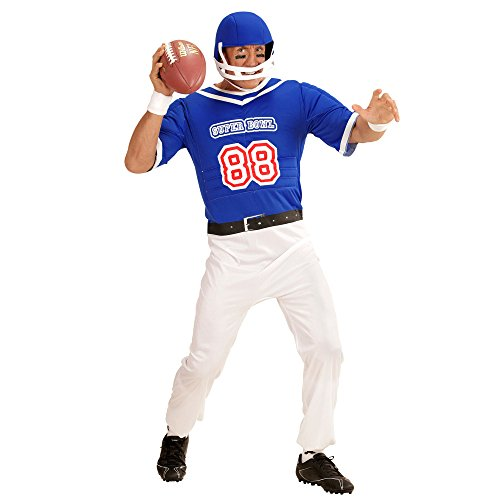 Imagen de disfraz de jugador de rugby azul para hombre  s alternativa