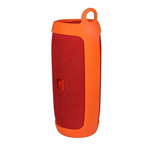 Preisvergleich Produktbild Lautsprecher,  Rcool Silikon Wireless Bluetooth Lautsprecher Cover Case Tasche Schutz für JBL Charge3 (Orange)