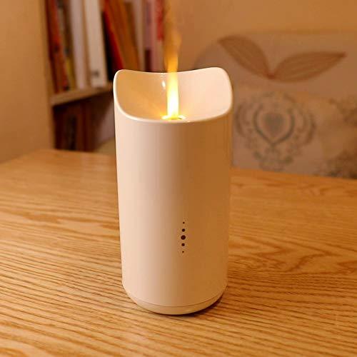 Aroma Diffuser, SOLLA 150ml Ultraschall Luftbefeuchter, Duftlampe Aromatherapie Diffusor USB Vernebler mit warmem LED-Kerzenlicht für Schlafzimmer, Büro, Zuhause, Yoga, Spa