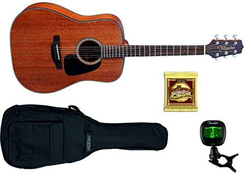 TAKAMINE GD11MNS Guitarra Acustica + Funda + Afinador Fender + Juego Cuerdas