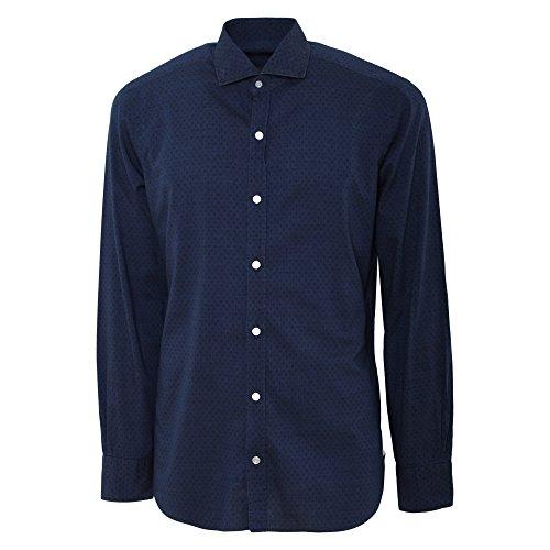 BARBA Herren Langarmshirt blau blau Kragenweite: 41 Blau