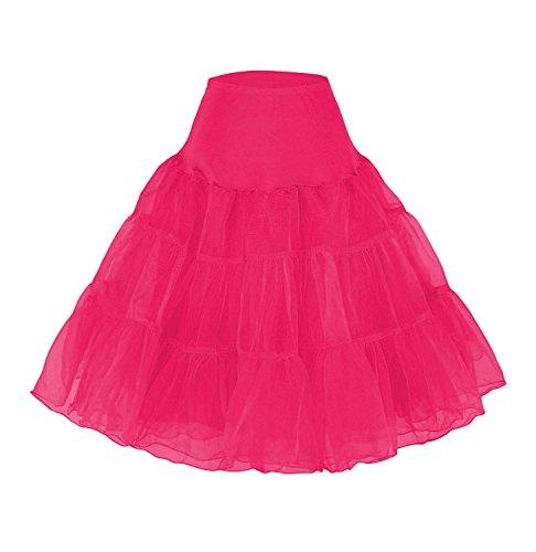 Petticoat Unterrock 50er Jahre Krinoline Hoopless Kleid Tutu Petticoat Kleid 50s tüllrock Kinder Rockabilly net Petticoat Skirt Crinoline Vintage Retro Mehreren Farben Röcke Swing ()