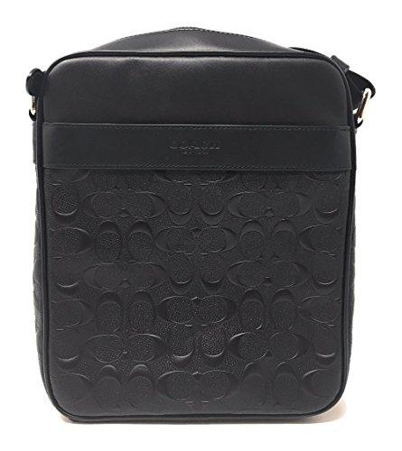 Coach Flight Bag Signature Crossgrain Leather NI/Schwarz