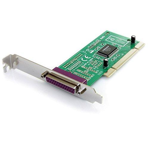 StarTech.com PCI1PECP - Tarjeta PCI de 1 puerto paralelo DB25 IEEE 1284 EPP ECP SPP BPP con bracket de perfil bajo