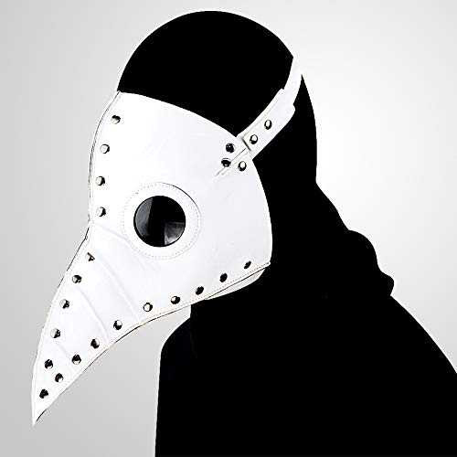 YWJ Plague Doctor Mask -Retro Rock Die Halloween-Party-Maske von Plague Doctor Bird,3