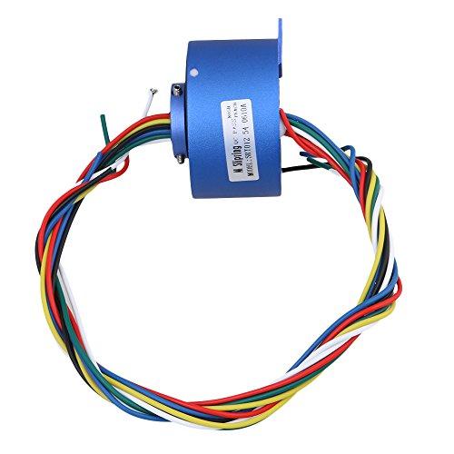 BQLZR 6 Fili 380 V 10A 12,7 MM Foro Dia Blu Metallo Plastica Via Hole Capsula Slip Ring per apparecchiature elettroniche