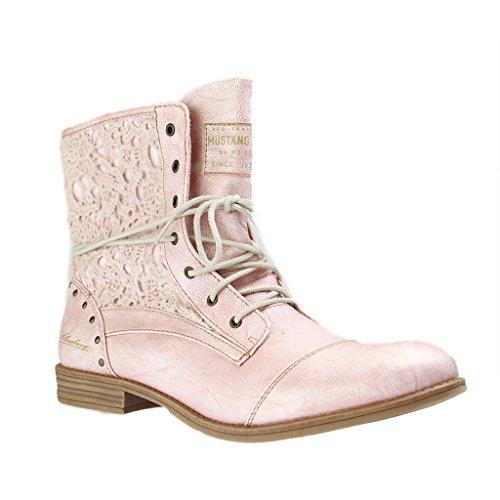 Mustang Damen 1157-527-852 Combat Boots Rosa (Rose 555)