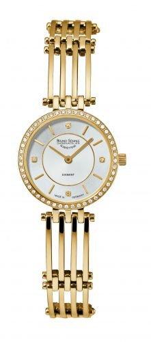 Bruno Söhnle Damen Analog Quarz Uhr mit Edelstahl beschichtet Armband 17-33132-292