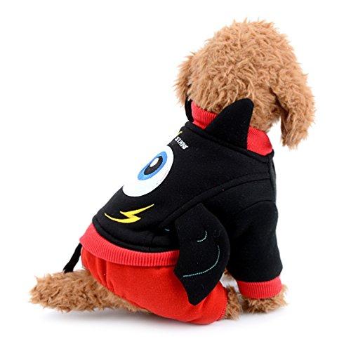 Devil Kostüm Boy - smalllee _ Lucky _ store Fleece gefüttert Hund Overall Devil Pet Kostüm Fancy Puppy Outfits Winter Coat Warm Chihuahua Kleidung