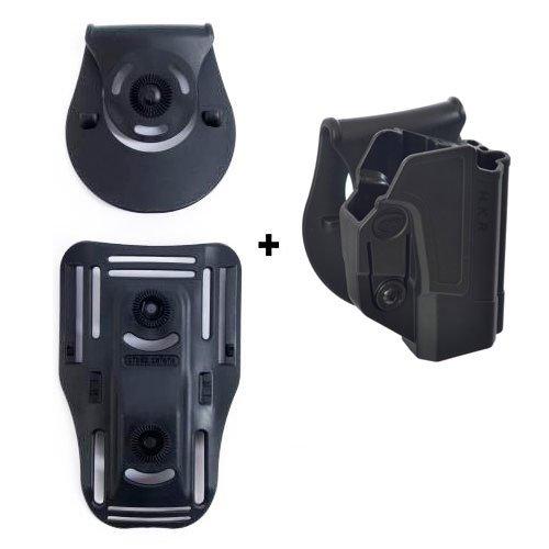 orpaz defensa Lowride cinturón + retención roto rotación Tactical Holster con Tention Ajustment para Heckler & Koch H & K USP 45, H & K USP 9mm y H & K USP 45(tamaño completo solamente)