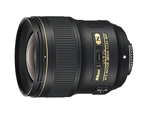 Nikon JAA140DA Objectif AF-S Nikkor 28 mm f/1.4E ED pour Appareil photo Noir