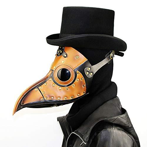 Kostüm Mittelalterliche Doktor Pest - ZMDHL Steampunk-Pest-Doktor-Herzmuschel-Maske, mittelalterliche Pest-Pest-DR Halloween-Kostüm-Maskerade-Maske