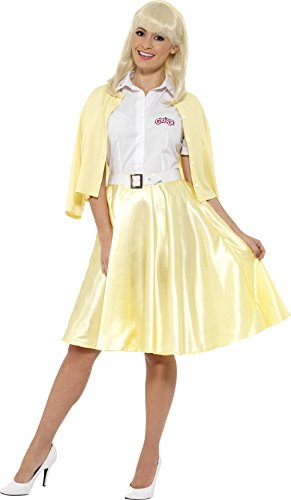 Smiffy's 42900M - Damen Sandy Kostüm, Grease, Größe: 40-42, gelb