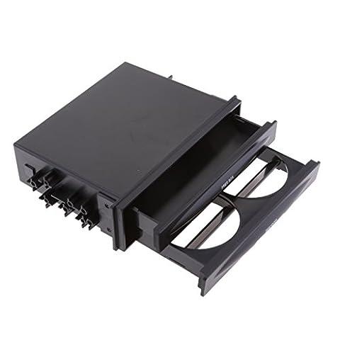 Gazechimp Porte-Gobelet Rangement Boîte Noir Support de Bouteille Voiture Intérieur