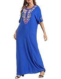 Vestido Islámico Abaya Dubai Kaftan - Ropa Arabe Mujer Maxi Algodón Jalabiya Elegante Vestidos de Manga