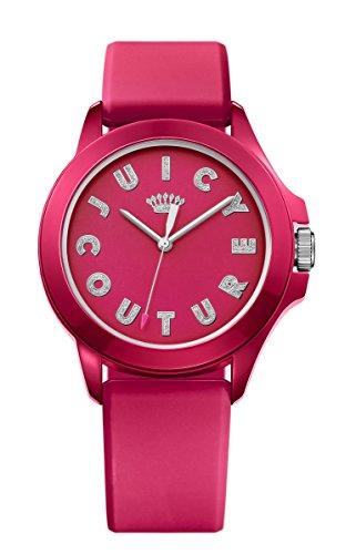 Juicy Couture Donna Fergie Rosa Cinturino In Gomma Quadrante Rosa 1901465