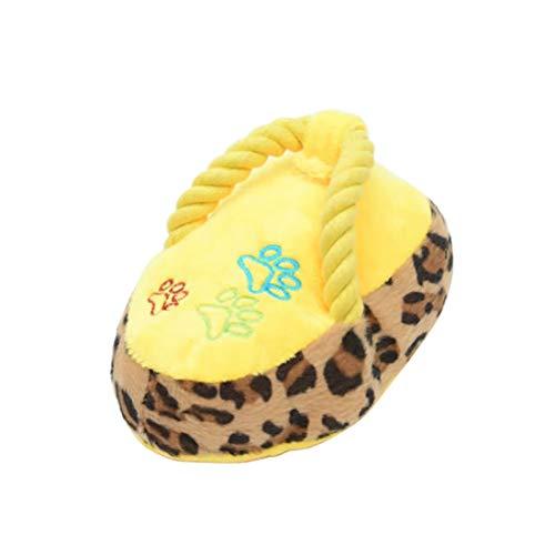 Unbekannt Spielzeug für Haustiere LMY Flip Flops Form quietschende Haustier-Spielzeug, zufällige Farbe Lieferung