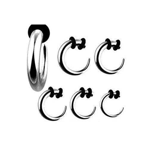 1x Piercing alargamiento hoz Taper Expander Oído Dilatación Acero Quirúrgico Tallas Elección, 2,0 mm