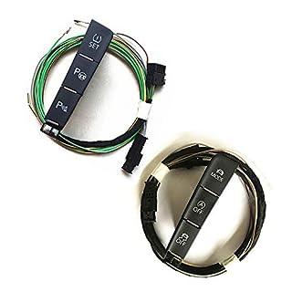 Hadeyicar Geeignet für Golf 7 MK7 Auto ESP Off-Modus Fahrmodus Rückfahrradar Einparkhilfe Reifendruckkontrollschalter Taste + Kabel,All