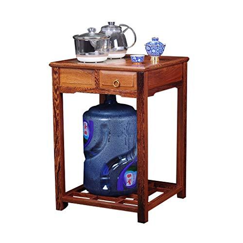 Tables basses Table à thé en Bois Massif Armoire à thé Armoire de Rangement Armoire à thé de Bureau (Color : Brown, Size : 46 * 46 * 66cm)